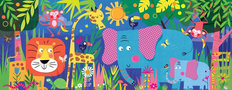 Jungle Animals Wallpaper Mural - Panoramic