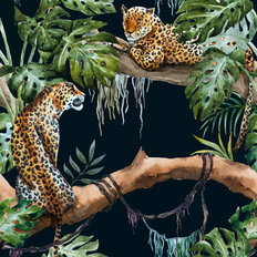 Jungle Leopard Pattern Wallpaper