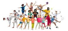 Kids In Sports Wall Mural