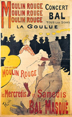 La Goulue at the Moulin Rouge Wall Mural