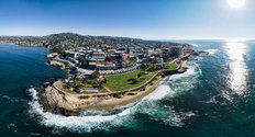La Jolla Cove Aerial Panoramic Mural Wallpaper
