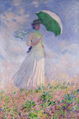 Lady With Parasol Facing Right Wallpaper Mural