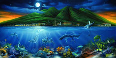 Lahaina Moon Mural Wallpaper