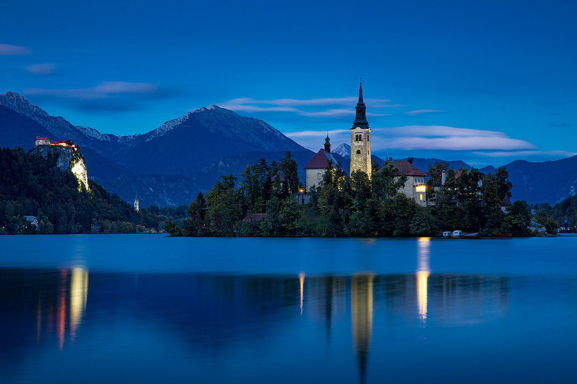 Lake Bled At Twilight