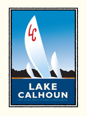 Lake Calhoun Sail Mural Wallpaper