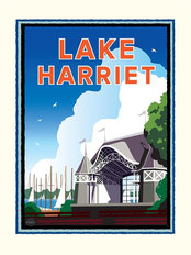 Lake Harriet Pavilion Wallpaper Mural