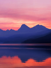 Lake Macdonald Sunrise From Apgar, Glacier National Park, Montana Wall Mural