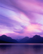 Lake Macdonald Sunset From Apgar, Glacier National Park, Montana Wall Mural