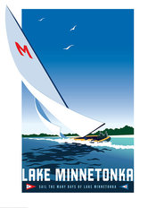 Lake Minnetonka Yacht Club Wallpaper Mural