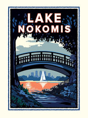 Lake Nokomis Bridge Wall Mural