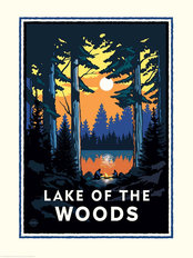 Lake of the Woods Wallpaper Mural