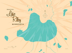 Lake Riley, MN Lake Map Wallpaper Mural