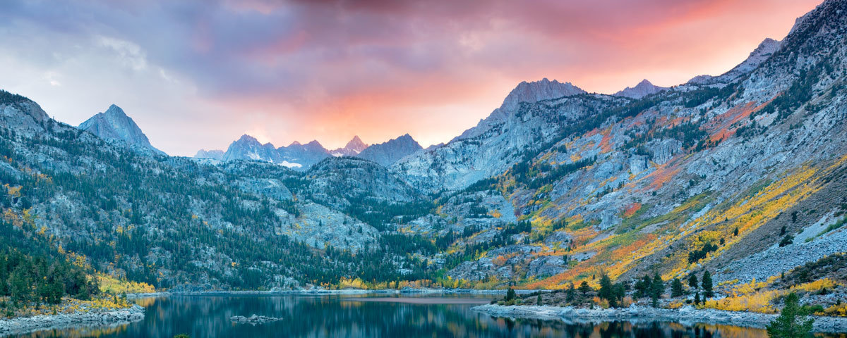 Lake-Sabrina-At-Sunset-With-Fall-Colored-Aspens-Wall-Mural.jpg
