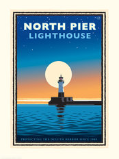 Lake Superior North Pier Lighthouse Wallpaper Mural