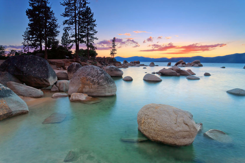 Lake Tahoe After Sunset Wall Mural