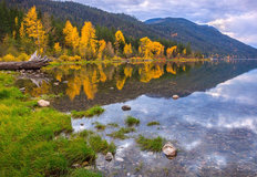 Lake Wenatchee in Autumn Mural Wallpaper