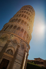 Leaning Tower of Pisa Mural Wallpaper