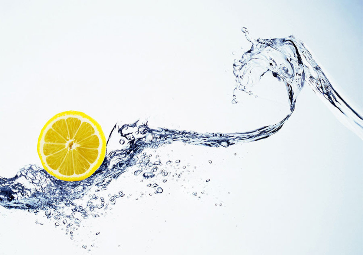 Lemon Splash Wall Mural