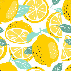 Lemony Fresh Pattern Wallpaper
