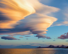 Lenticular Clouds Over South Georgia Island Wall Mural