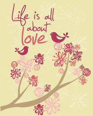 Life Is All About Love Wallpaper Mural