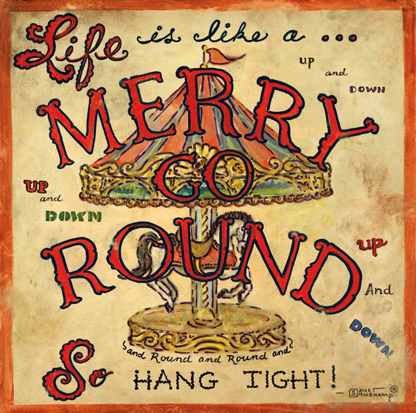 Life Is Like A Merry Go-Round Mural Wallpaper