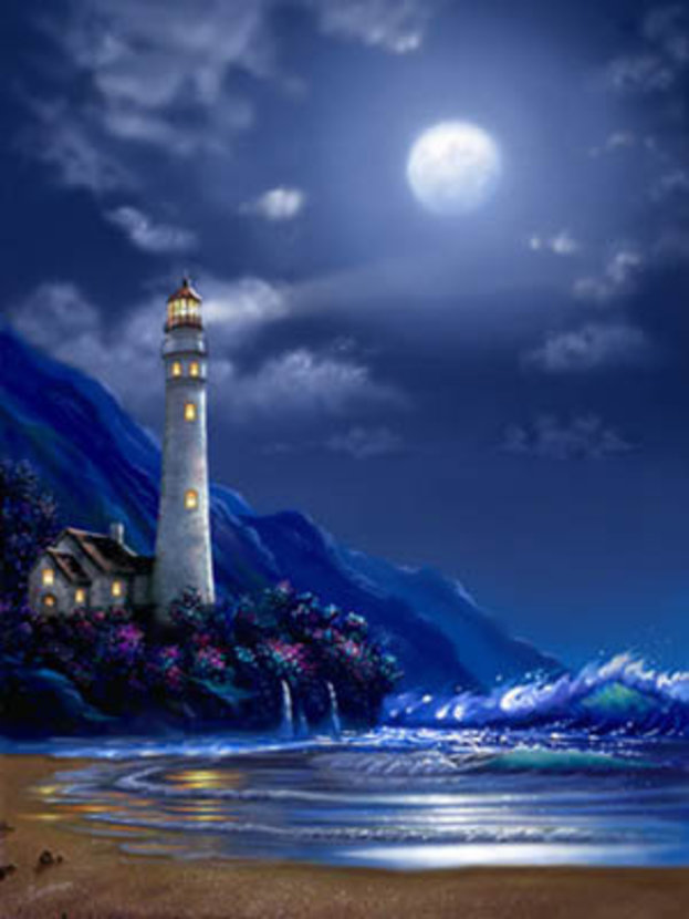 Lighthouse At Peace Wallpaper Mural