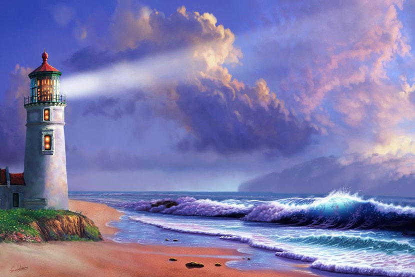 Lighthouse Dreaming Wall Mural