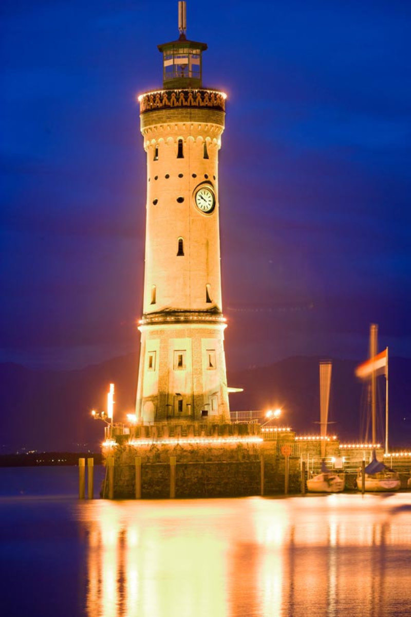 Lighthouse on Lindau Island, Germany  Wall Mural
