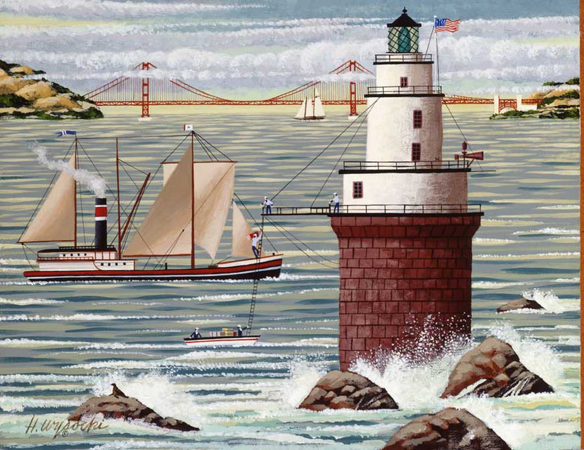 Lighthouse Repairs Wall Mural