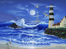 Lighthouse Romance Wall Mural