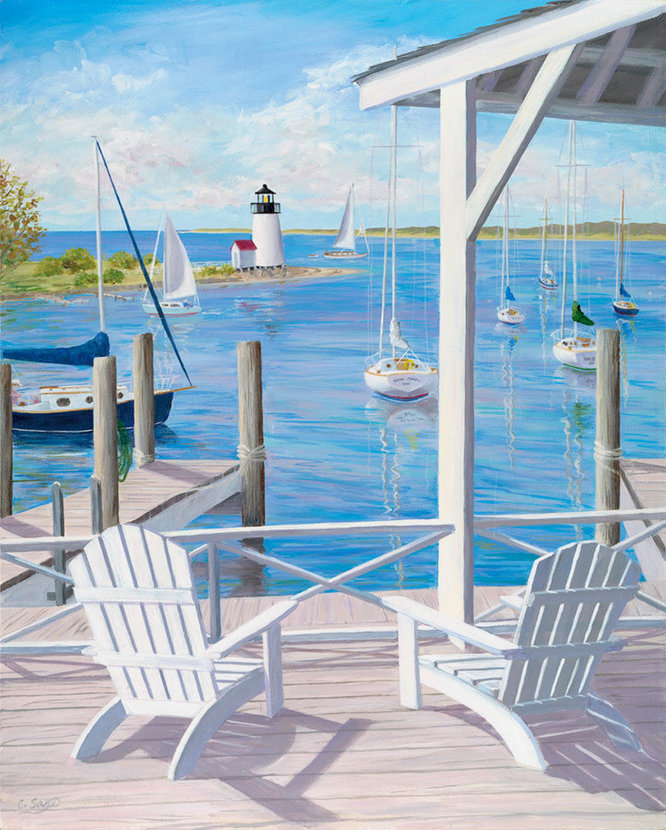Lighthouse View Wall Mural