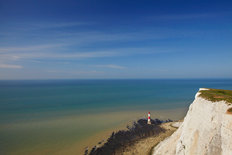 Lighthouse & White Cliffs, Beachy Head Mural Wallpaper