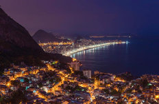 Lights Of Rio Mural Wallpaper