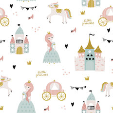 Little Princess Pattern Wallpaper