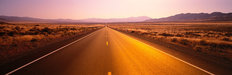 Long Desert Road Mural Wallpaper