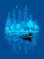 Loon In The Dark Wall Mural