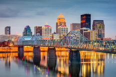 Louisville, Kentucky On The River Wall Mural