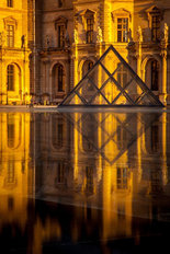Louvre Sunset Mural Wallpaper