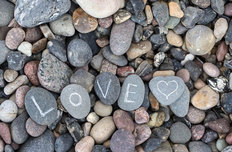 Love Pebbles Mural Wallpaper