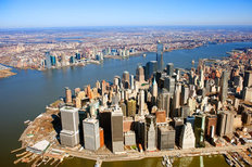 Lower Manhattan - Aerial View Mural Wallpaper
