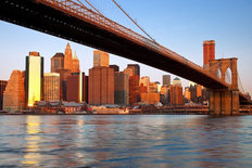 Lower Manhattan, Brooklyn Bridge Mural Wallpaper