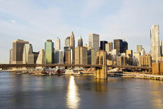 Lower Manhattan on a Sunny Morning Wall Mural