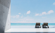 Luxury Lounge Beach Deck Wall Mural