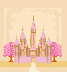 Magic Fairy Tale Princess Castle Wall Mural