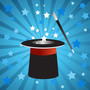 Stars emerge from a magic top hat