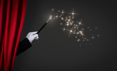 Magic Wand On Stage Mural Wallpaper