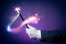 Abracadabra Magic Trick Mural Wallpaper
