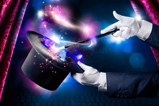 Magic Trick on Stage Mural Wallpaper