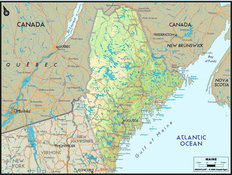 Maine Map Mural Wallpaper